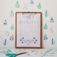 Decoratietip voor in huis: gratis maandkalender