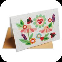 Bloemenkaart voor moederdag