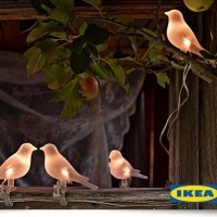 Vogellampjes op zonne-energie