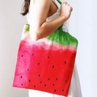 DIY: watermeloen tas