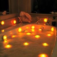 Lampjes in bad